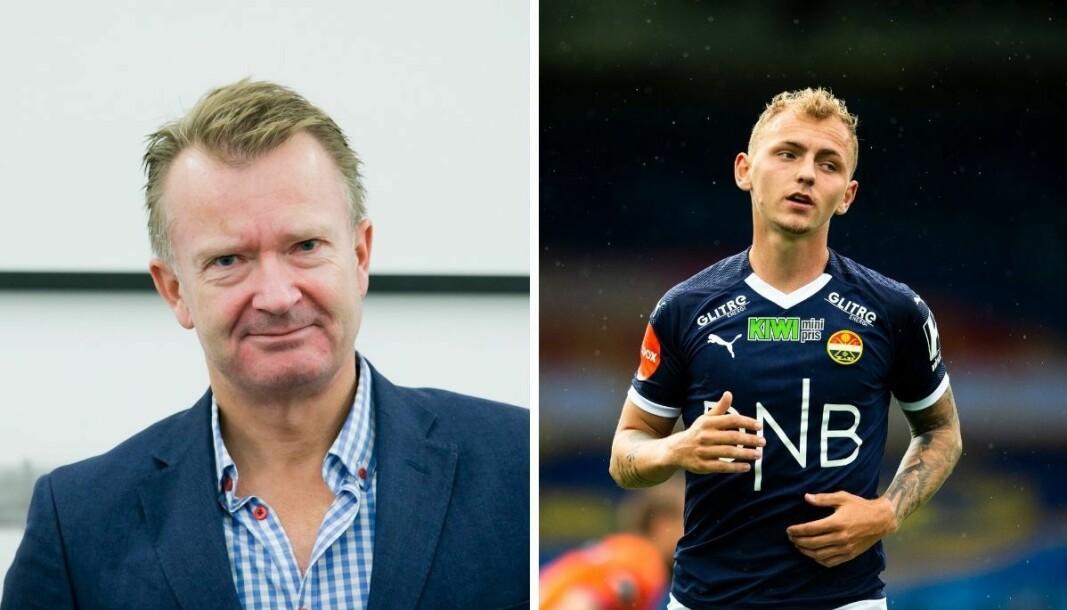 Rune Brynhildsen (til venstre) reagerer sterkt på at fotballspilleren Marcus Mølvadgaard fikk slippe til med påstander om sin ekstrener i en TV 2-sak.