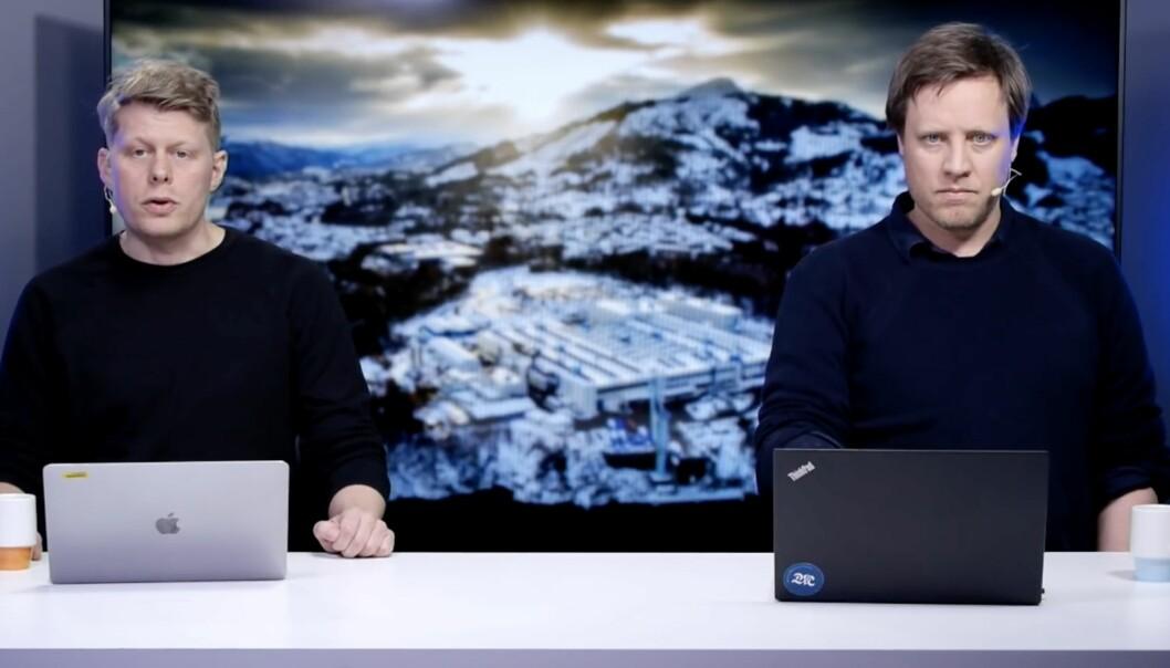 Bergens Tidende- og E24-journalist Gerhard Flaaten, og BT-kollega Lars Kvamme.