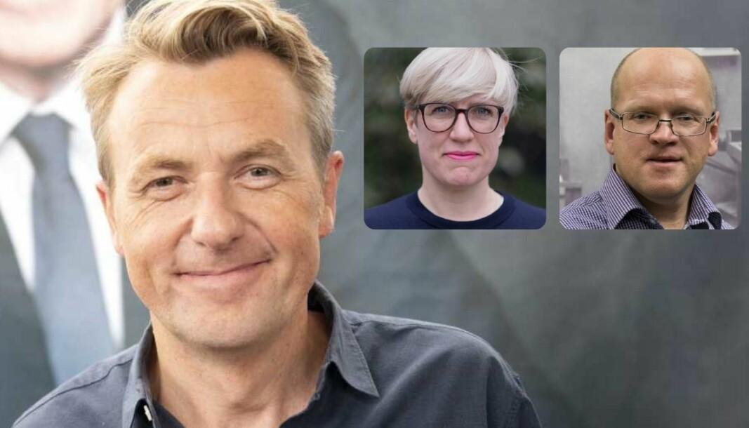 Fredrik Skavlan får ros av medieforskerne Vilde Schanke Sundet og Henrik Grue Bastiansen.