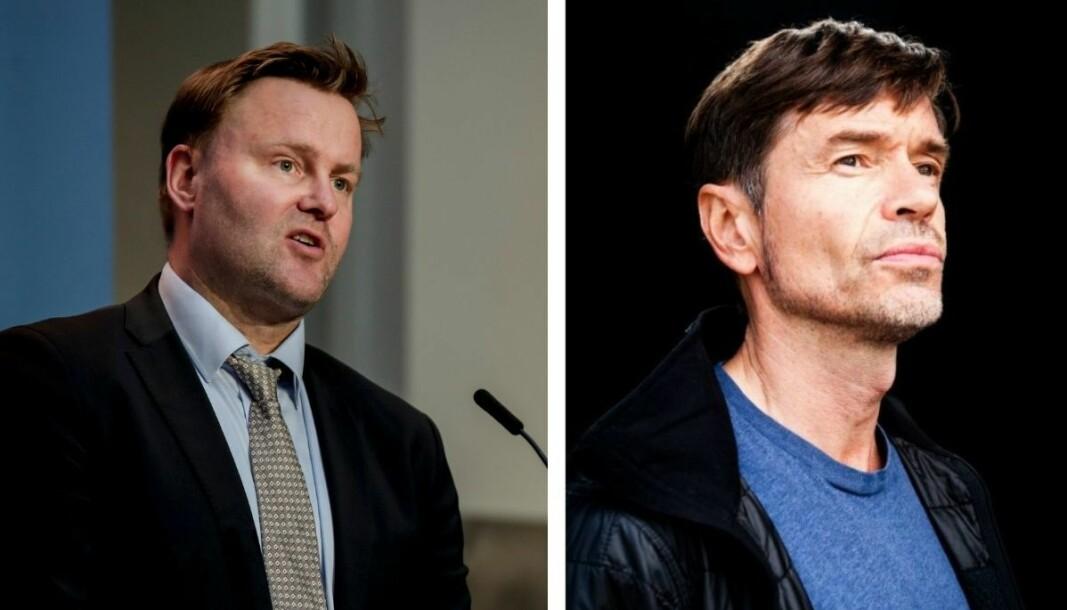 Espen Rostrup Nakstad (til venstre) svarer på kritikken fra Kjetil Rolness.
