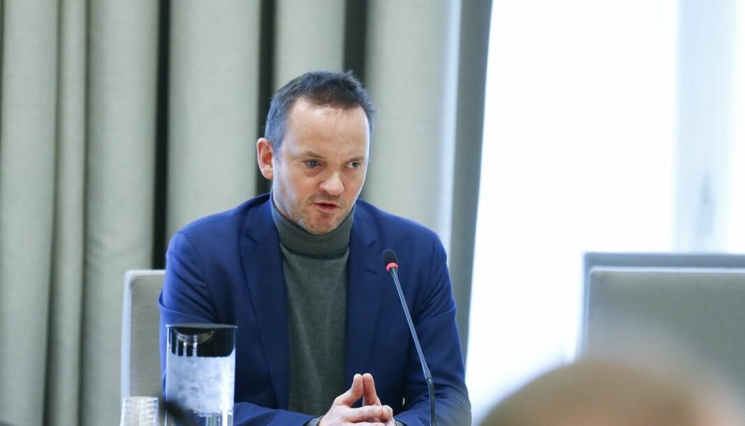 Geir Ove Ystmark, administrerende direktør i Sjømat Norge, er kritisk til Nationen.