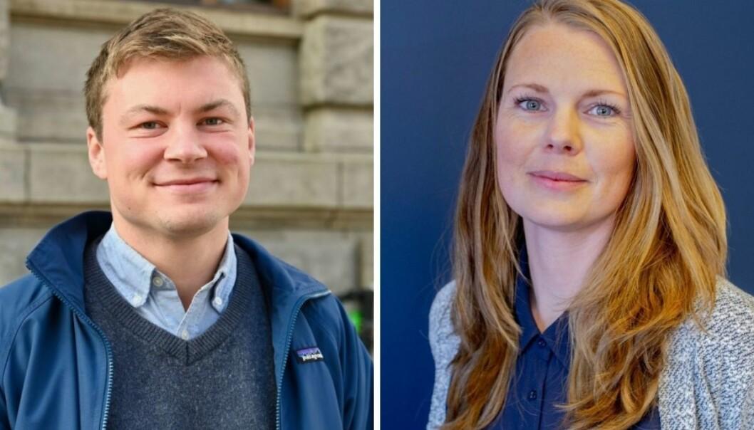 Jostein Larsen Østring (til venstre) og Eivor Jerpåsen svarer på kritikken fra Bernt Olufsen.