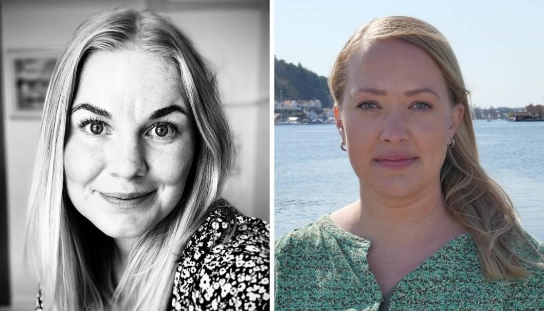 Eline Storsæter og Grete Helgebø har begge fått jobb i Agderposten.