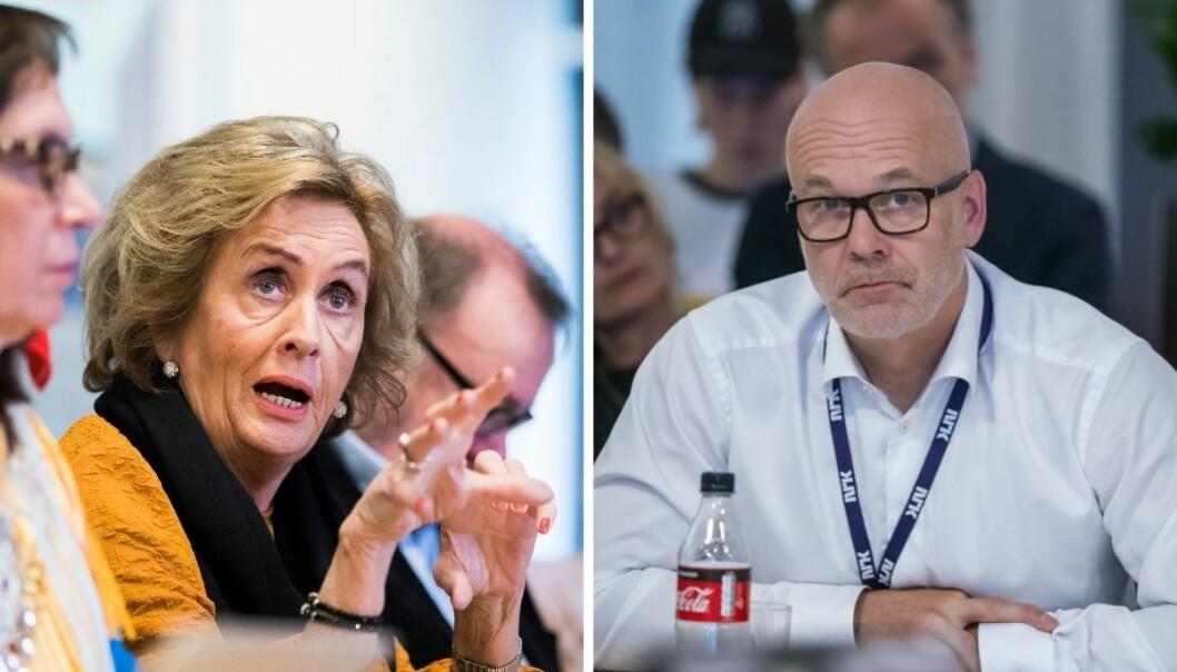 Trude Drevland tok opp tematikken om innhold til eldre på NRK under torsdagens Kringkastingsråd, og spurte Kringkastingssjef Thor Gjermund Eriksen om kanalen er forberedt på den økende andelen eldre seere.
