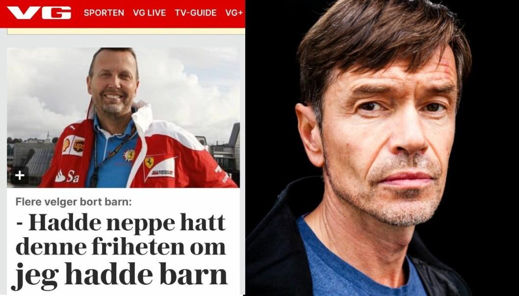 Faksimile fra VG og sosiolog og skribent Kjetil Rolness.