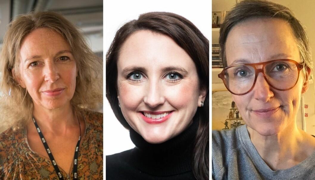 Christina Dorthellinger Nygaard, redaktør og leder for visuell kommunikasjon i nyhetsbyrået NTB, nyhetsredaktør i Avisa Oslo, Hanne Taalesen og vaktsjef i VårtOslo Cecilie Klem.