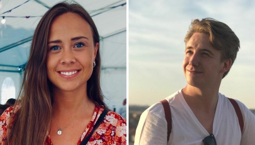 Tina Gjermundshaug og Johan Nordal Børstad er ansatt på TV 2s videodesk.