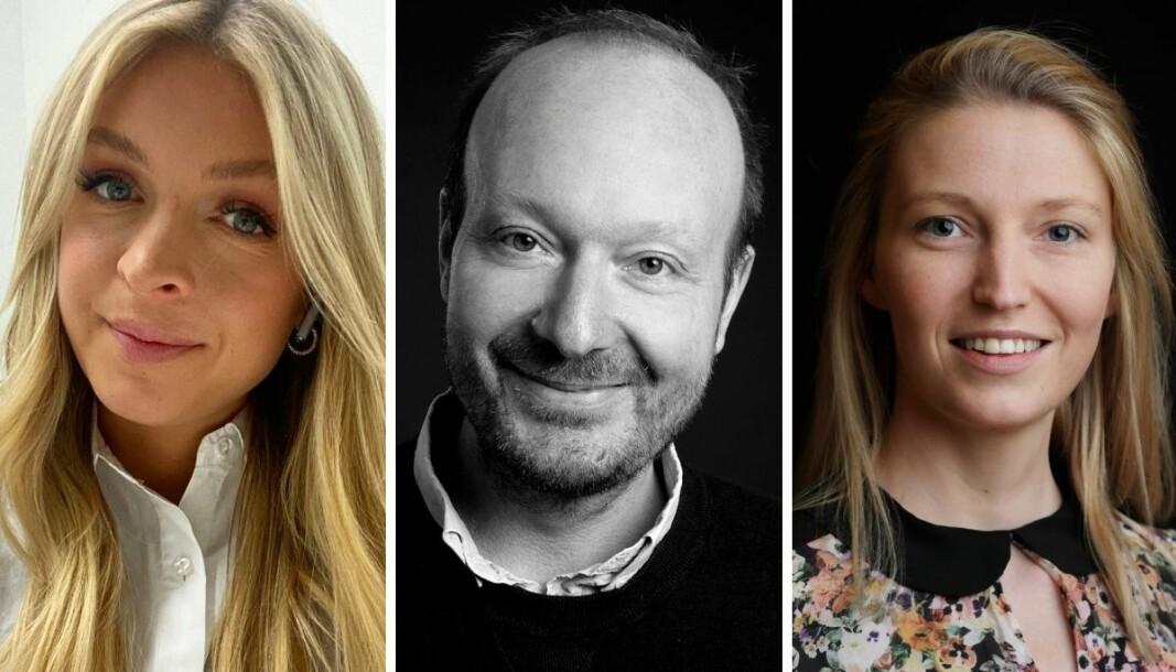 Camilla Fredstad Huuse (t.v), Ronny Berg og Mona Grivi Norman står bak VG-artikkelen «Jakten på ni menn».