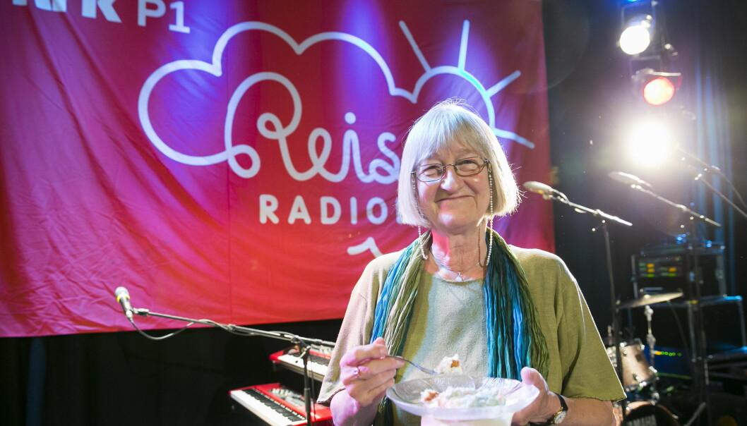 Tidligere programleder Else Michelet avbildet under feiringen av Reiseradioen 50 år i NRK i 2013.