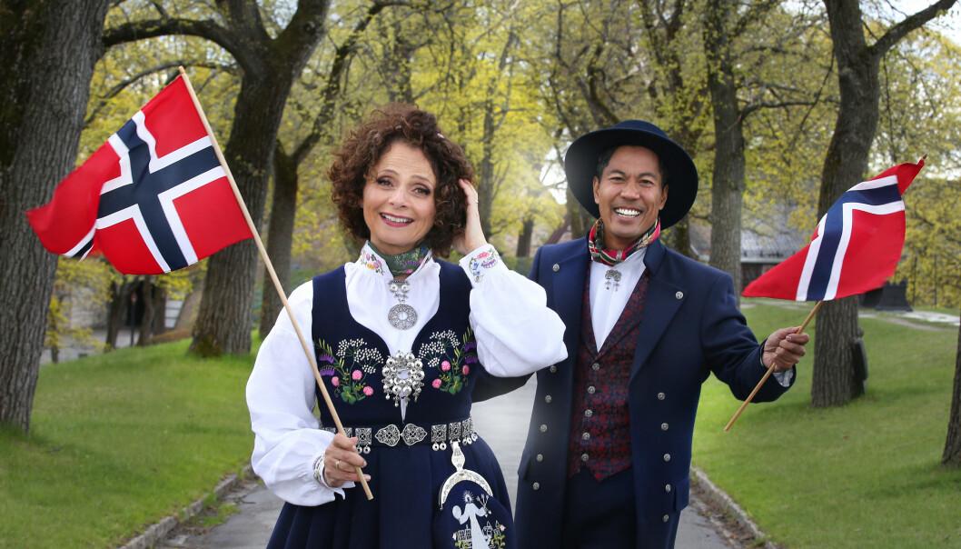 Nadia Hasnaoui og Christian Strand på Akershus festning
