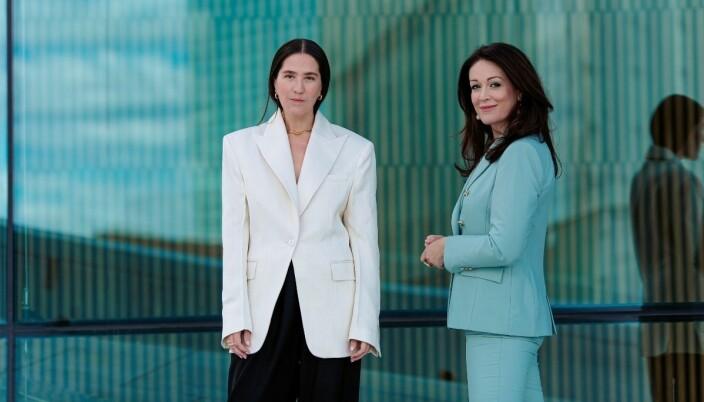 Ida Elise Eide Einarsdóttir (til venstre) og KK-redaktør Ingeborg Heldal.