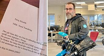 NRK-reporter fikk hatbrev i posten: – Rasistisk
