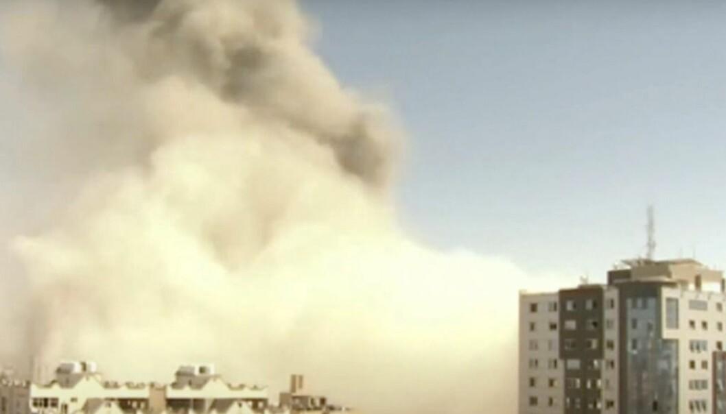 Israelsk luftangrep rammer medier på Gazastripen
