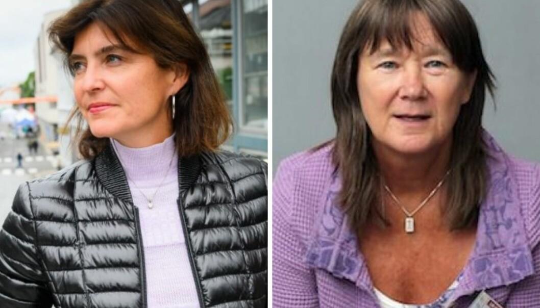 Norsk PEN-leder Kjersti Løken Stavrum og NJs Eva Stabell reagerer kraftig på det israelske luftangrepet på flere medier på Gazastripen.
