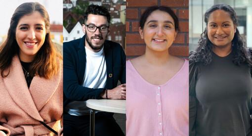 Disse fire er plukket ut til Schibsteds flerkulturelle traineeprogram
