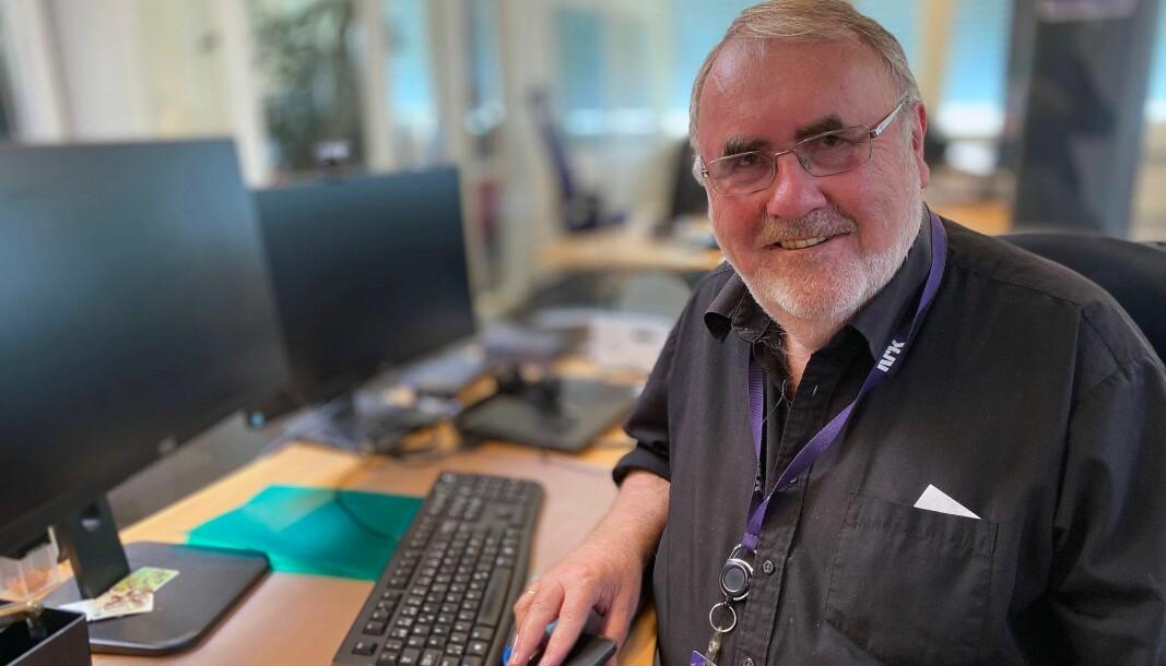 Lars Egil Mogård har jobbet for NRK i 28 år. Nå pensjonerer han seg.