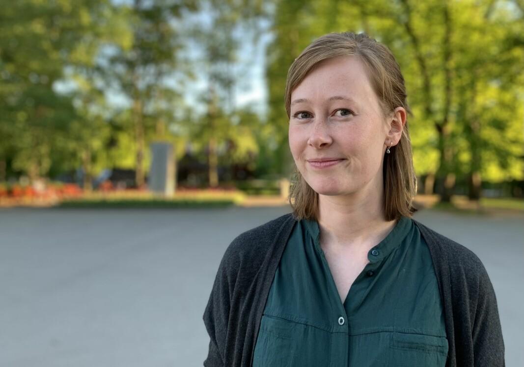 Kristine Sterud er ansatt som debattansvarlig i Medier24 AS.