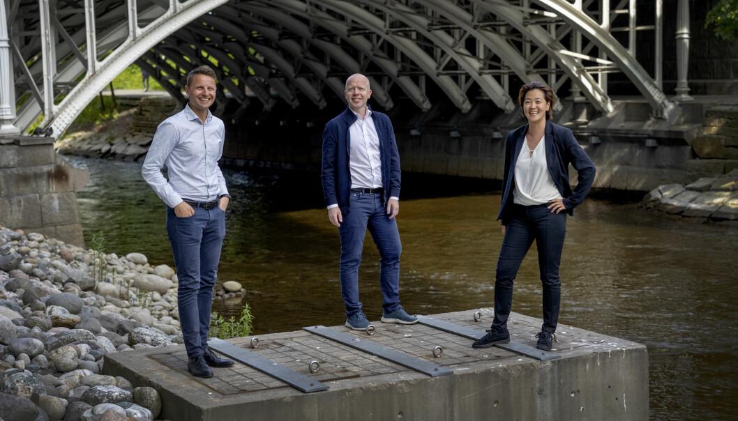 Fredrik Loennecken, Trond Sundnes og Hege Kosberg. NHST/DN konsernet