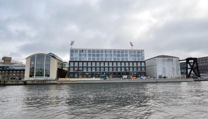 Her er NRKs nye lokalkontor i Fredrikstad, like ved både Fredrikstad stadion og Høgskolen i Østfold.