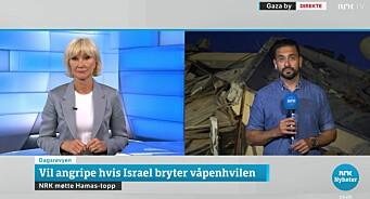 Diskuterte NRKs Israel/Palestina-dekning: – Uansett hvordan NRK dekker dette, vil de få kritikk
