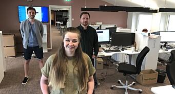 Julie (28), Joar (30) og Robert (31) er ansatt i Fiskeribladet og IntraFish