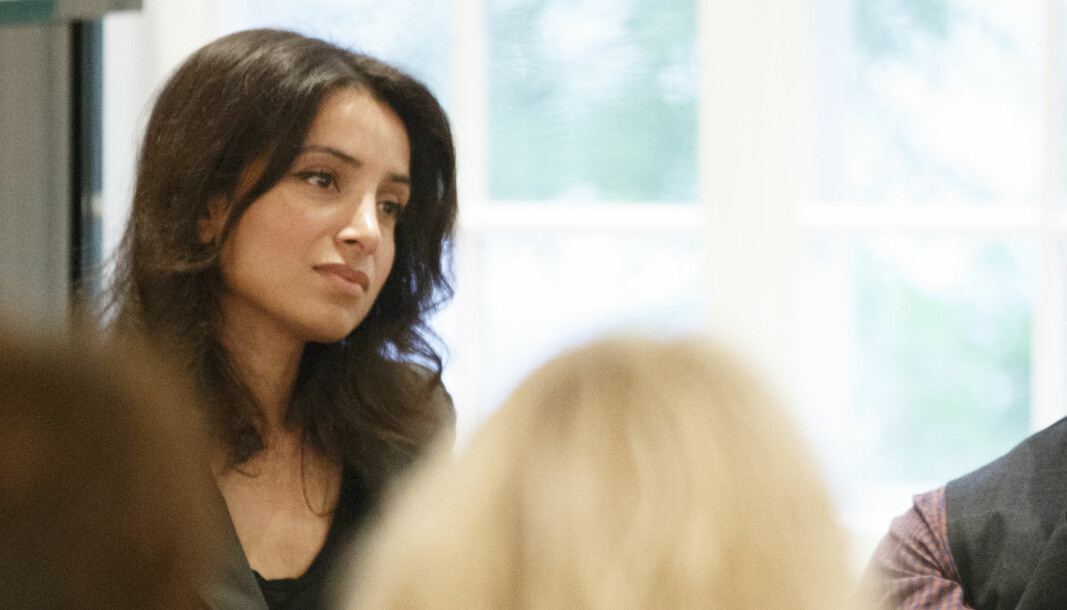 Deeyah Khan avbildet under en Fritt Ord-arrangement i Oslo i 2015.