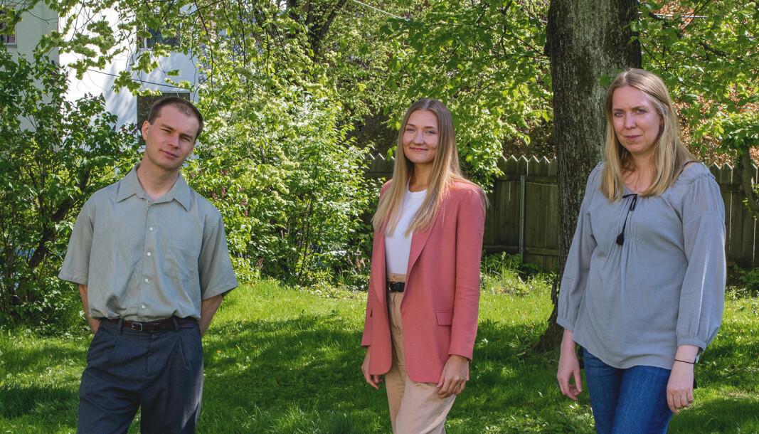 Jonas Sundquist (fra venstre), Jenny Baksaas og Vera Thorvarsdottir har fått fast jobb i Psykologisk.no.
