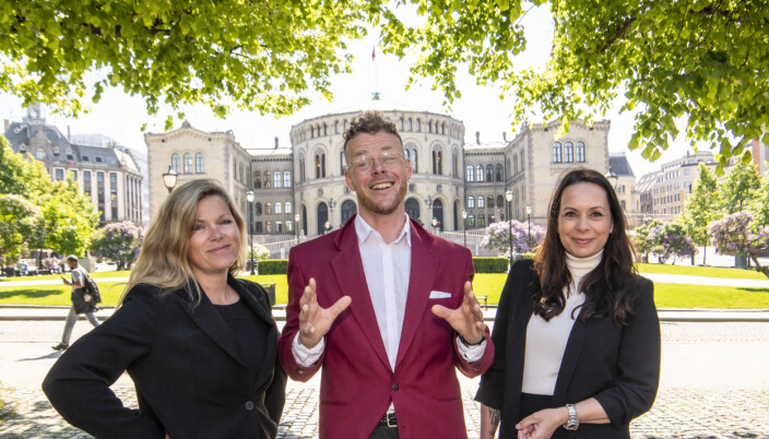 Leder for Valgboden, Martine Aurdal, programleder Steinar Suvatne og prosjektleder Tanja Wibe-Lund.