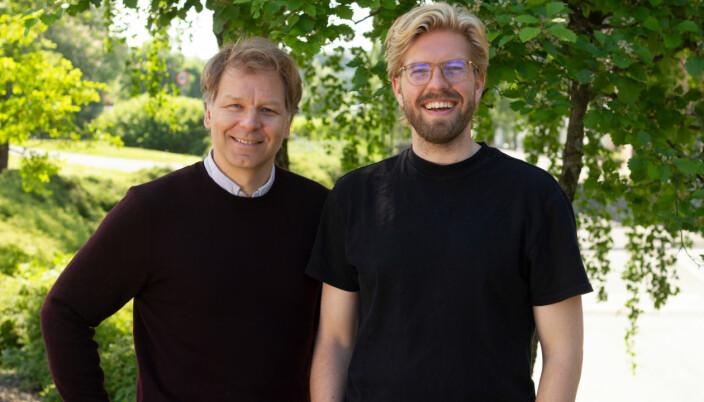 Espen Eckbo (til venstre) og Jakob Schøyen Andersen fronter Nissene i bingen.