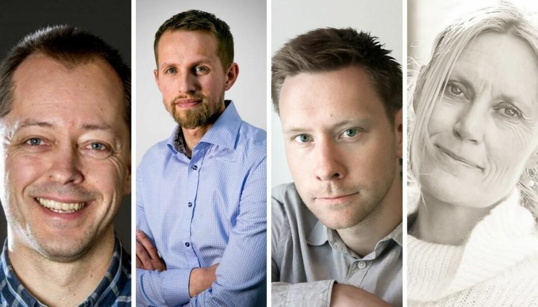 René Svendsen, Helge Nitteberg, Markus Rask Jensen og Guri Jortveit.