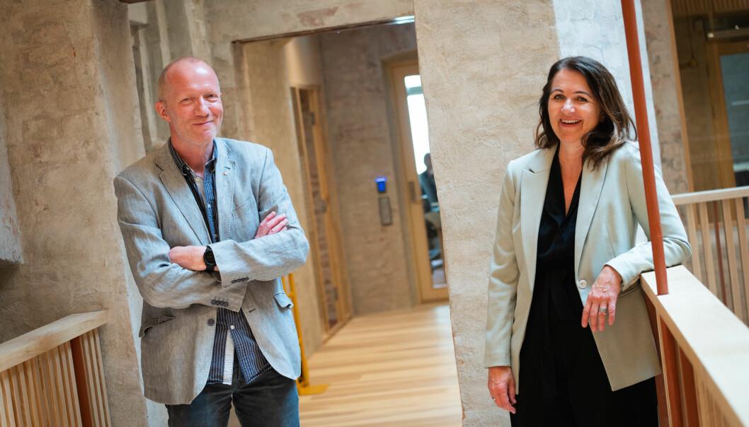 Arne Jensen og Reidun Kjelling Nybø i Norsk Redaktørforening
