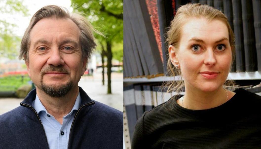 Mediekritiker Trygve Aas Olsen og tidligere sjefredaktør Vanja Skotnes i Nidaros.