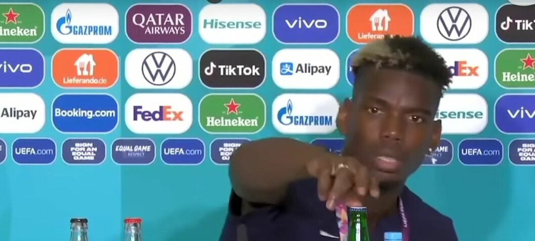 Ronaldo fjernet Cola og verdien stupte – Pogba fjernet øl og økte Heinekens aksjeverdi