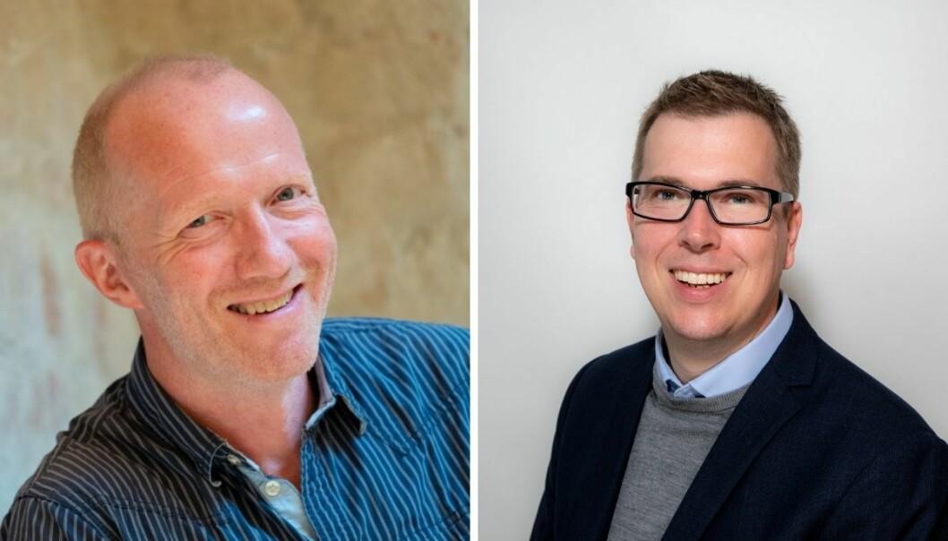 Arne Jensen (til venstre) og Eirik Hoff Lysholm skriver om Nidaros-bråket.