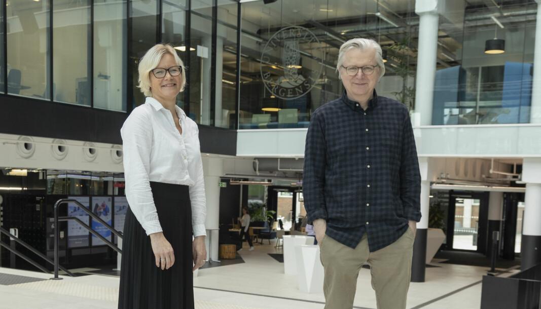 Reportasjeleder Kristine Holmelid og senterleder Per Christian Magnus hos SUJO ser frem til oppstarten av det nye masterprogrammet.
