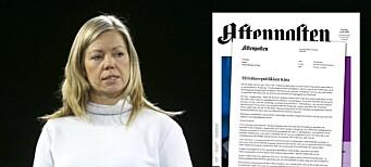 Aftenposten vier hele forsiden til skarp kritikk av Kina: – Vi må ikke være redde