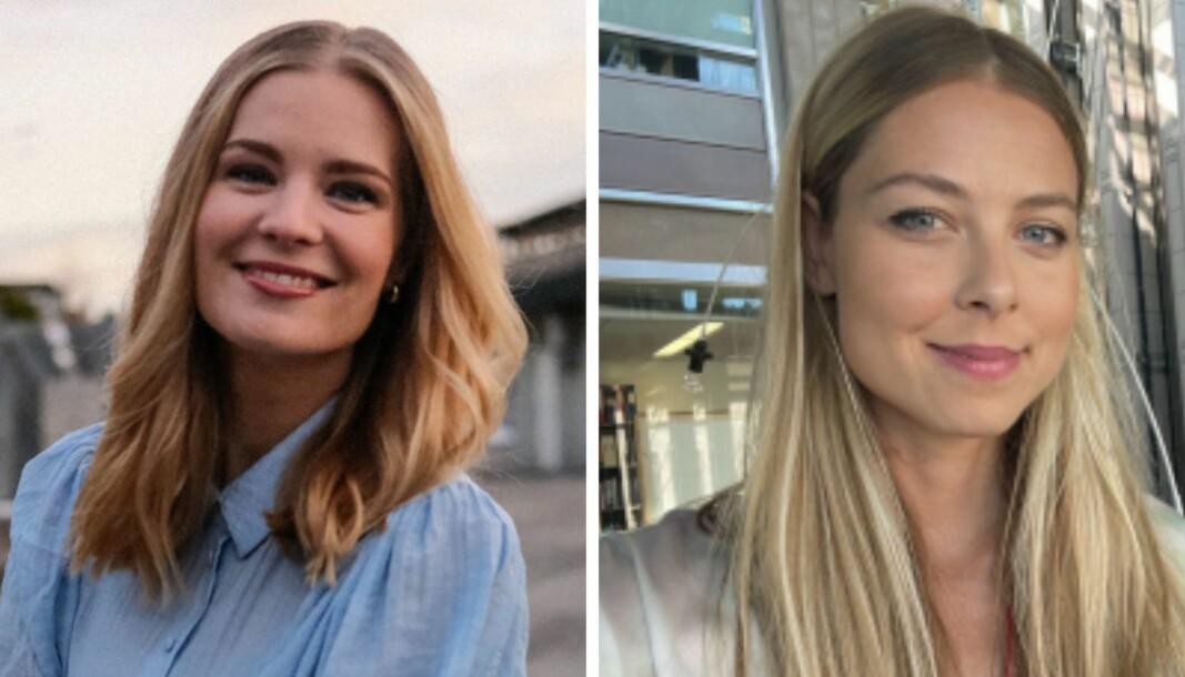 Anne Sofie Mengaaen Åsgård og Line Fausko har fått faste jobber i VG. Click to add image caption