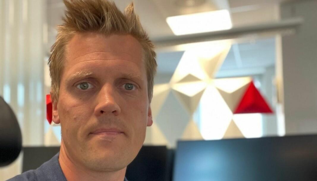 Nyhetsredaktør i Halden Arbeiderblad, Morten Ulekleiv.