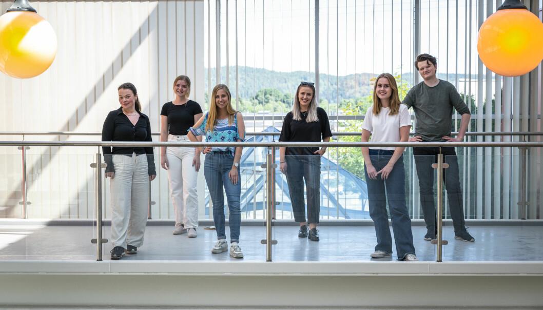 Fra venstre Aleksandra Brillanti, Amalie Bernhus Årtun, Eline Molvær Løndal, Tonje Waal Karlsen, Nora Skavhaug og Eirik Hexeberg