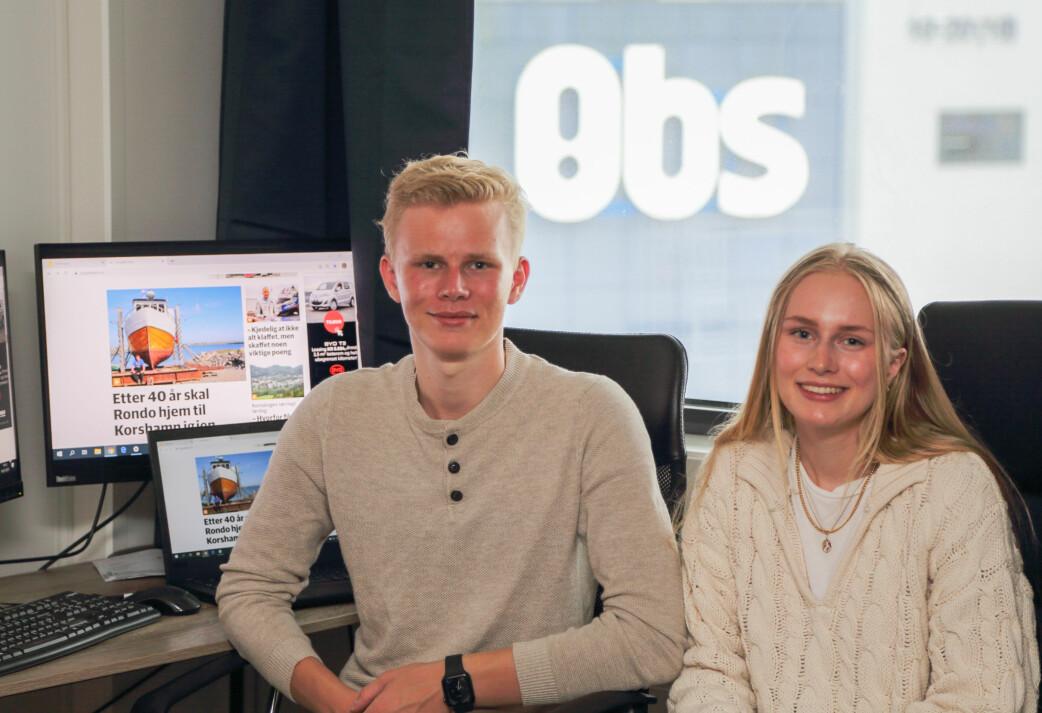 Søskenpar på 17 og 19 år driver lokalavisen alene i sommer