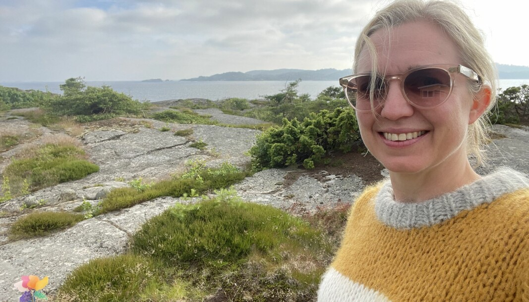 NTB-redaktør Sarah Sørheim tilbringer årets sommer på hytta i Vestfold, slik hun har gjort så mange somre tidligere.