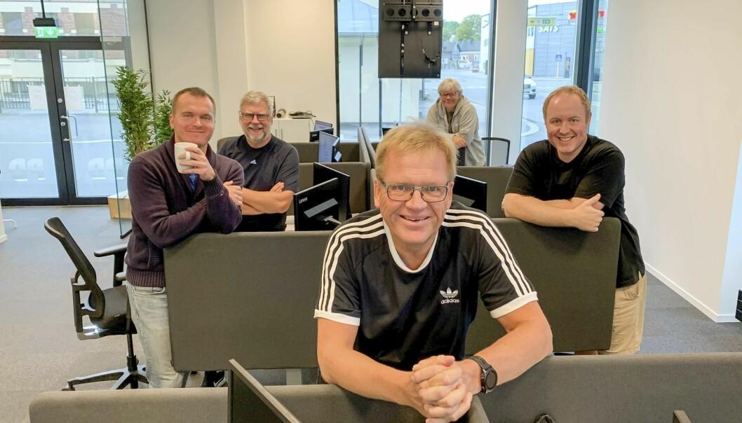 PD-redaksjonen: Erik Enger, Trond Arvid Alund, Tom B. Hansen, Geir Fragell og Andreas Bjerlv Karlsen.