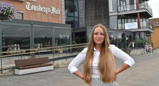 Julia Horn (24) er ny nyhetsjournalist hos Tønsbergs Blad