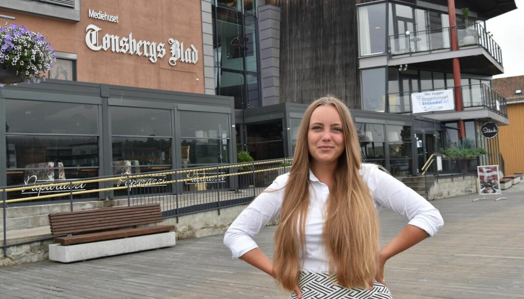Julia Horn er blitt fast ansatt i Tønsbergs Blad.
