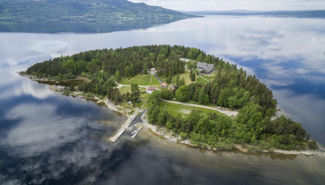AUFs sommerleir Utøya i Tyrifjorden.