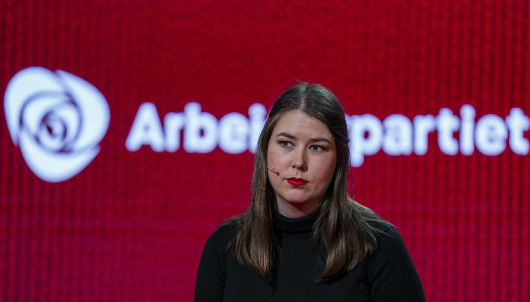 Astrid Hoem snakker om 22. juli og terrorisme under Arbeiderpartiets landsmøte i Oslo.Foto: Terje Pedersen / NTB
