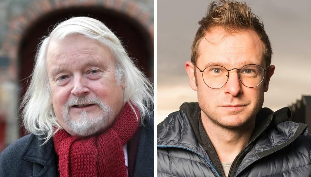 Tidligere generalsekretær i Norsk Presseforbund Per Edgar Kokkvold og ansvarlig redaktør i Trønderdebatt Snorre Valen.