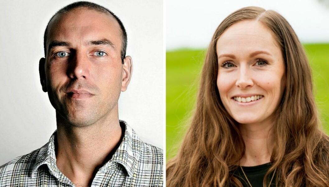 Debattredaktør i Aftenposten, Erik Tornes og Utøya-overlevende Elin L'Estranges.