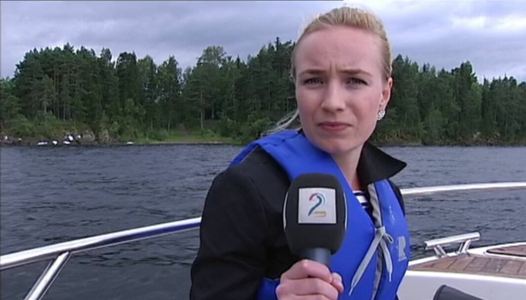Linn Wiik i båten utenfor Utøya 23. juli 2011.