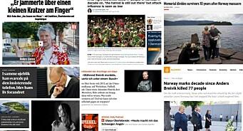 Slik dekker utenlandske medier ti-års markeringen av 22. juli